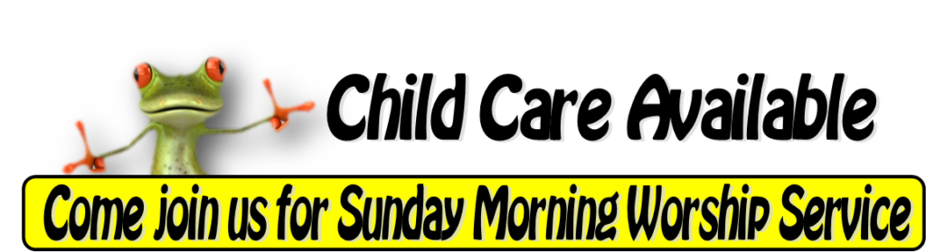 Child Care available - come join us!